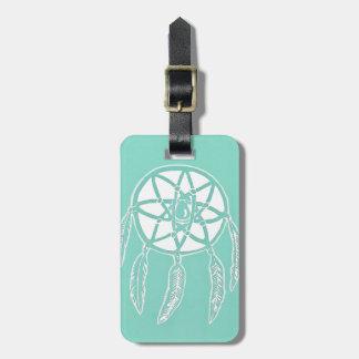 Etiqueta del equipaje de Dreamcatcher de la menta Etiquetas Maletas