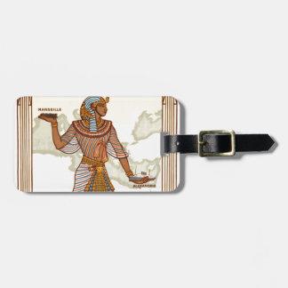 Etiqueta del equipaje de Egipto del vintage
