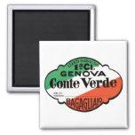 Etiqueta del equipaje de Génova Conte Verde Imán