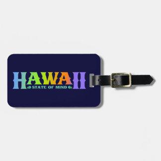 Etiqueta del equipaje de Hawaii - etiqueta colorid Etiquetas Bolsa