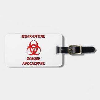 Etiqueta del equipaje de la apocalipsis del zombi