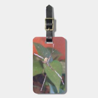 Etiqueta del equipaje de la araña del orbe etiqueta de maleta