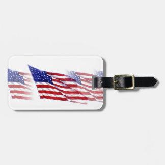 Etiqueta del equipaje de la bandera americana etiquetas para maletas