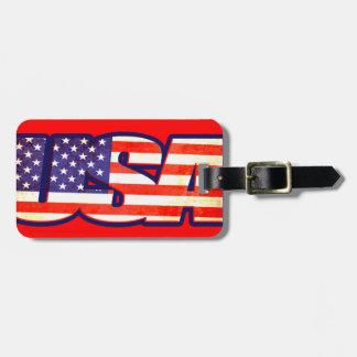 Etiqueta del equipaje de la bandera de América de Etiquetas De Maletas
