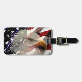 Etiqueta del equipaje de la bandera de American Etiquetas Para Maletas