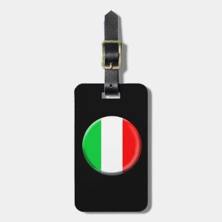 Etiqueta del equipaje de la bandera de Italia