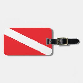 Etiqueta del equipaje de la bandera de la etiquetas bolsas