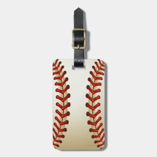 Etiqueta del equipaje de la bola del béisbol etiqueta para equipaje