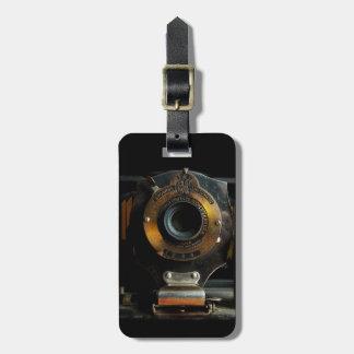 Etiqueta del equipaje de la cámara del vintage