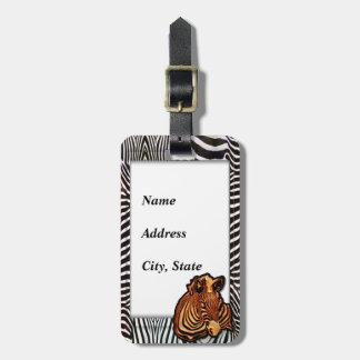 Etiqueta del equipaje de la cebra 3