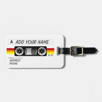 Etiqueta del equipaje de la etiqueta de la cinta d etiquetas maletas