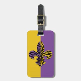 Etiqueta del equipaje de la flor de lis del tigre etiqueta para equipaje