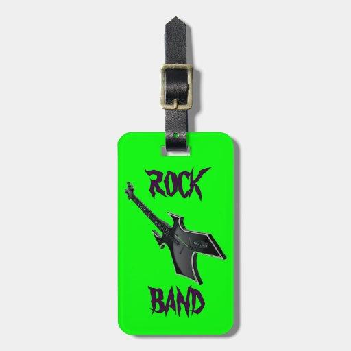 Etiqueta del equipaje de la guitarra de la BANDA D Etiqueta Para Equipaje