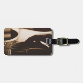 Etiqueta del equipaje de la guitarra etiquetas maleta
