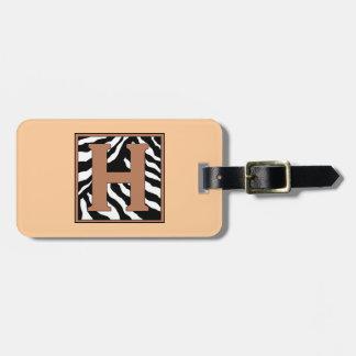 Etiqueta del equipaje de la H-Cebra