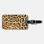 Etiqueta del equipaje de la impresión de Jaguar Etiquetas Bolsa