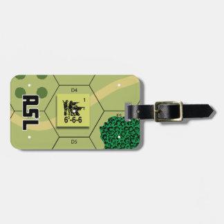 Etiqueta del equipaje de la infantería del ASL los Etiquetas Maletas