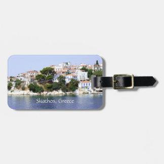 Etiqueta del equipaje de la isla de Skiathos, Grec Etiquetas Para Maletas