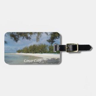 Etiqueta del equipaje de la isleta de los Cocos Etiquetas De Equipaje