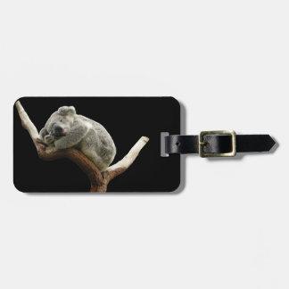 Etiqueta del equipaje de la koala etiquetas para maletas