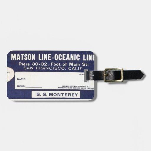 Etiqueta del equipaje de la línea de cruceros del  etiquetas de maletas