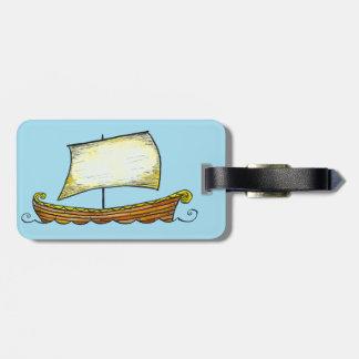Etiqueta del equipaje de la nave de Viking de los  Etiquetas De Maletas