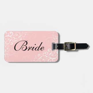 Etiqueta del equipaje de la novia de encargo etiquetas de maletas
