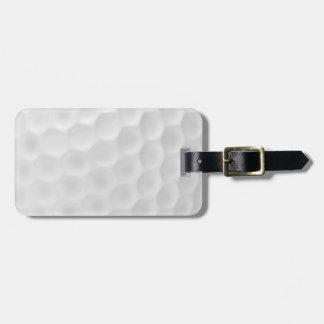 Etiqueta del equipaje de la pelota de golf etiqueta de maleta