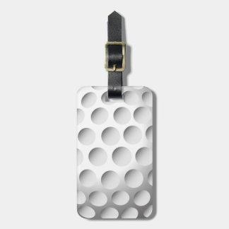 Etiqueta del equipaje de la pelota de golf etiqueta para equipaje