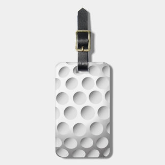 Etiqueta del equipaje de la pelota de golf etiquetas maleta