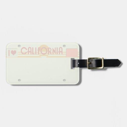 Etiqueta del equipaje de la placa de California Etiqueta De Maleta