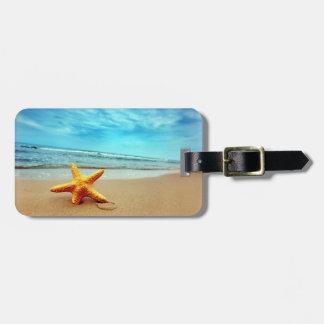 Etiqueta del equipaje de la playa etiquetas maleta