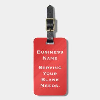Etiqueta del equipaje de la promoción del negocio etiquetas de equipaje