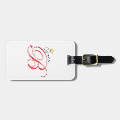 Etiqueta del equipaje de la reina B Etiquetas Para Maletas