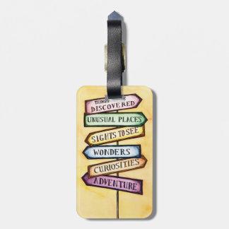 Etiqueta del equipaje de la señal de tráfico de la etiqueta de equipaje