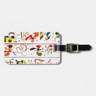 Etiqueta del equipaje de la sucesión de Kandinsky Etiquetas De Maletas
