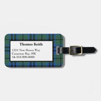 Etiqueta del equipaje de la tela escocesa de tartá etiquetas para equipaje