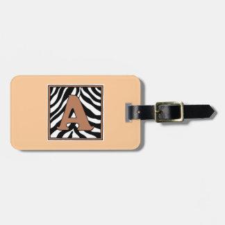 Etiqueta del equipaje de la Uno-Cebra