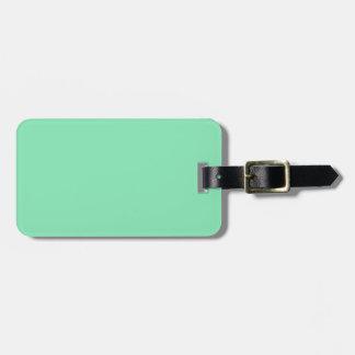 Etiqueta del equipaje de la verde menta etiquetas para maletas