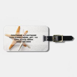 Etiqueta del equipaje de las estrellas de mar etiquetas maleta