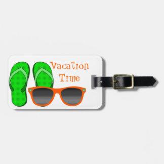 Etiqueta del equipaje de las gafas de sol y de los etiquetas de equipaje