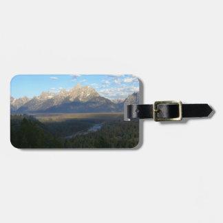 Etiqueta del equipaje de las montañas de Jackson Etiquetas Para Maletas