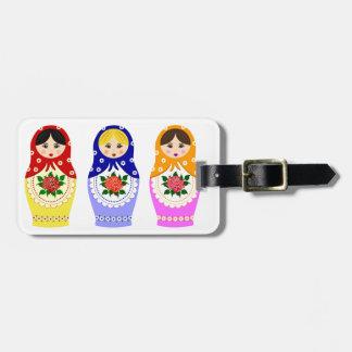 Etiqueta del equipaje de las muñecas de Matryoschk Etiquetas Para Maletas