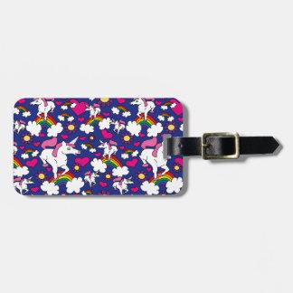 Etiqueta del equipaje de los arco iris y de los un etiquetas bolsas
