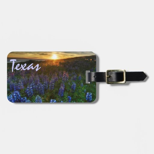 Etiqueta del equipaje de los bluebonnets de Tejas Etiqueta Para Maleta
