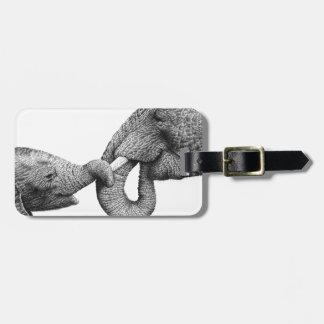 Etiqueta del equipaje de los elefantes africanos etiquetas para maletas