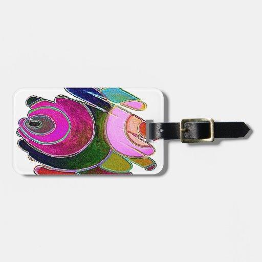 Etiqueta del equipaje de los espirales del rosa de etiquetas bolsas