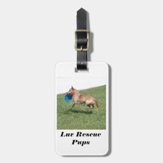 Etiqueta del equipaje de los perritos del rescate  etiqueta de maleta
