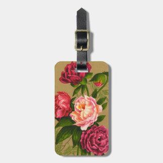 Etiqueta del equipaje de los rosas del vintage 191 etiquetas de maletas