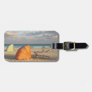 Etiqueta del equipaje de Miami Beach Etiquetas Maletas